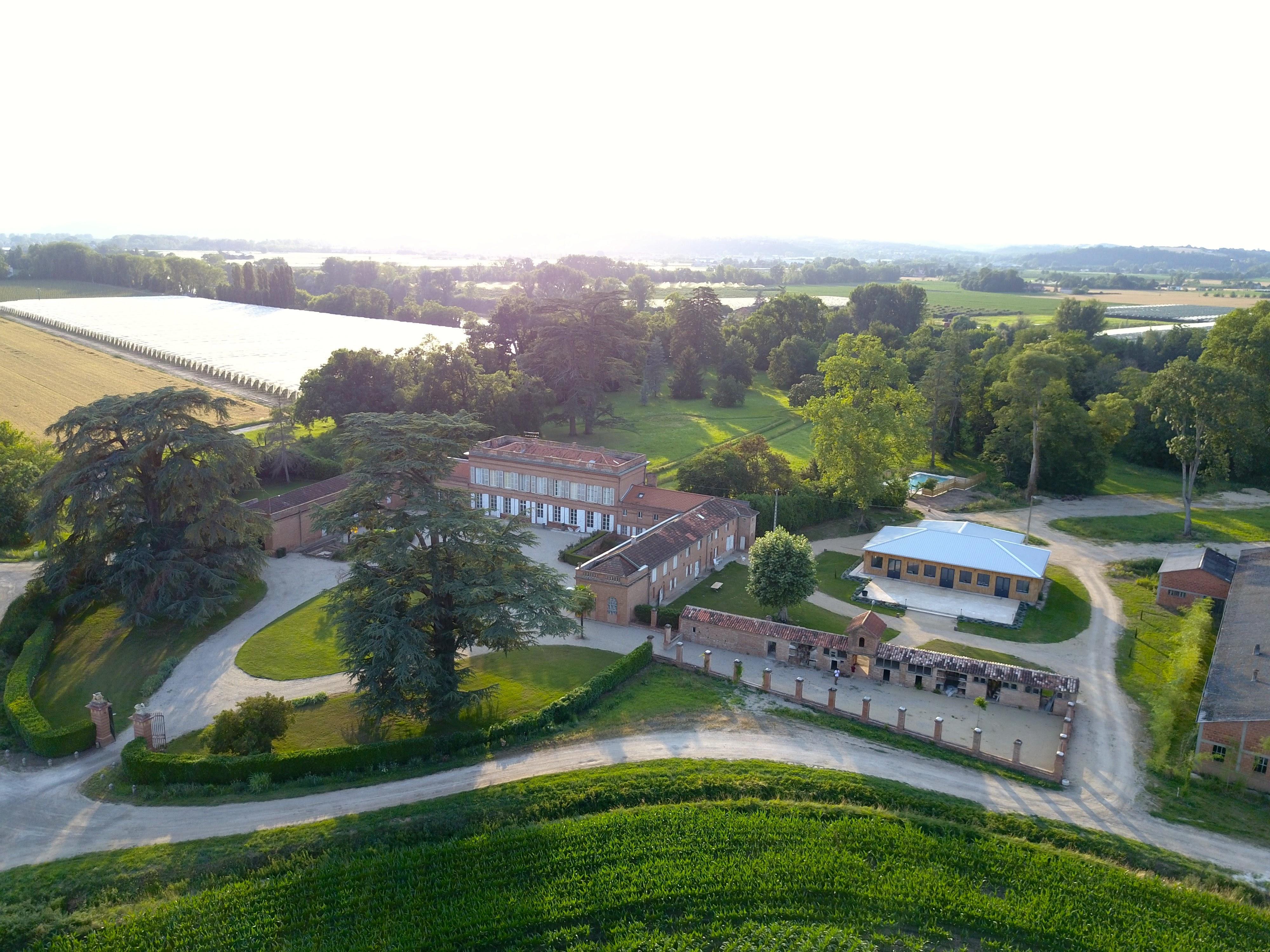 Photo drone Salle de Réception Tarn et Garonne au Château Lavalade
