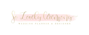 So lovely ceremony wedding planner