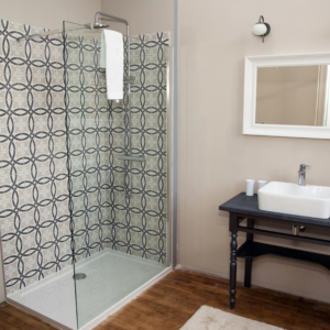 Salle de bain chambre d'hôte château